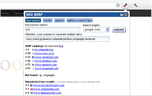 seo serp tool keyword ranking chrome extention
