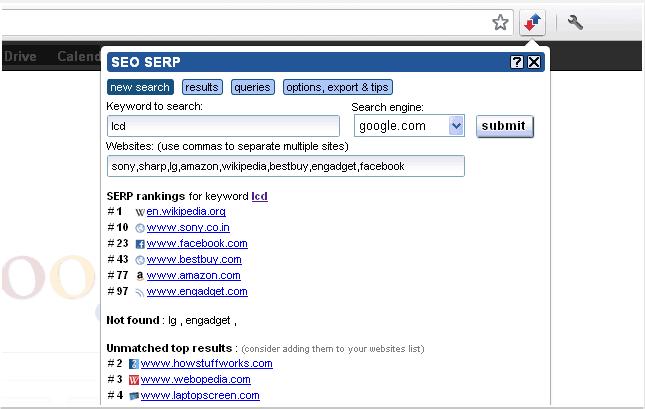 seo serp tool keyword ranking chrome extention